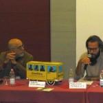Carlo Ridolfi della Rete di cooperazione educativa insieme ad Andrea Segre