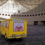 Lo scuolabus di Sergio Staino fermo al MART di Rovereto per la premiazione dei borsisti