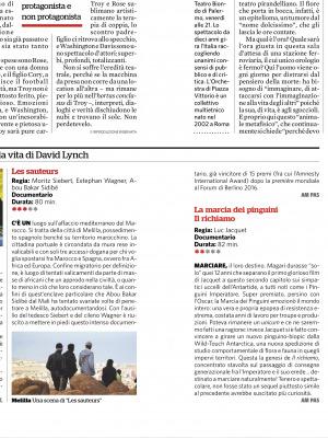 recensione Il Fatto Quotidiano 25 febbraio - Les Sauteurs Rassegna Stampa