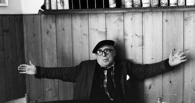 Cesare Zavattini . Foto di Paolo Mori