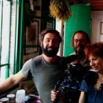 Don Pasta, Andrea Segre e Giulia durante le riprese con Antonia